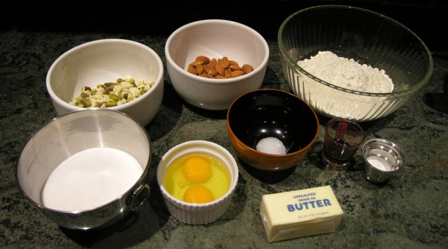Biscotti ingredients