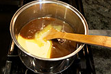 add condenced milk and light corn syrup