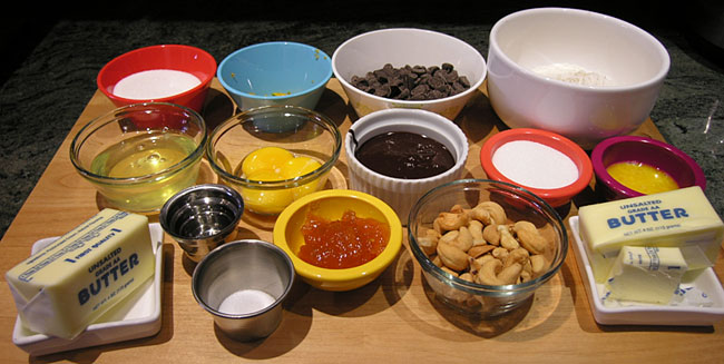 Chocolate Cashew Tart Ingredients
