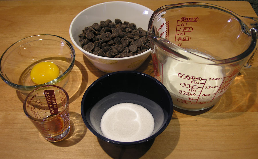 Chocolate Ganache Ingredients