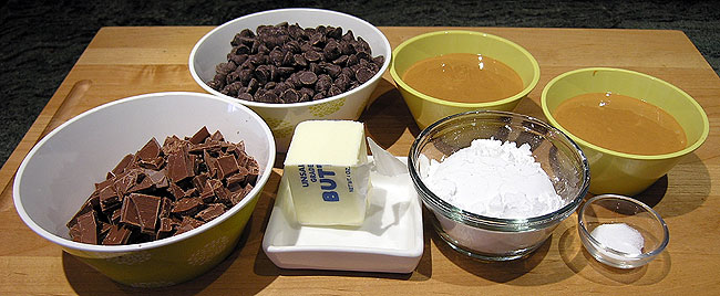 Chocolate Peanut butter cups ingredients