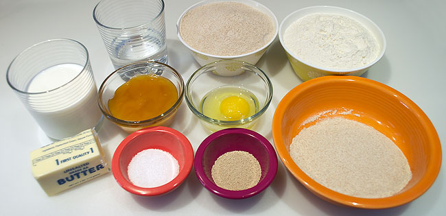 Honey Wheat Bread Ingredients