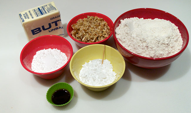 Russian Tea Cakes Ingredients