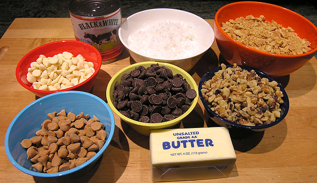 Seven Layer Bars Ingredients
