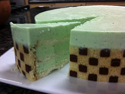 Pistachio Mousse Layer Cake