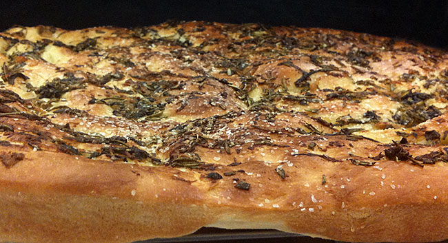 Flat Breads - Focaccia with Herb Garlic Oil