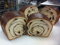 Raisin Bread With Cinnamon Swirl